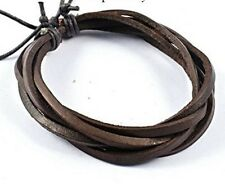 Men's Bracelet Brown Cow Leather