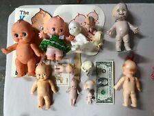 """Vintage lot of 16 """"Kewpie Dolls and items"""""""