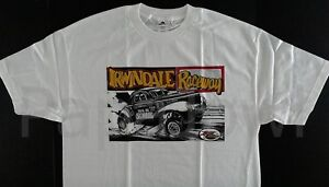 IRWINDALE RACEWAY DRAG STRIP 1941 Willys Old School Hot Rod Hemi T-Shirt