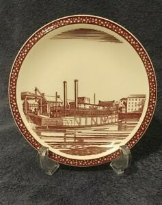 "Rare Rockwell Kent  Vernon Kilns USA Brown Bread & Butter Plate 6.5"""