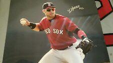 Boston redsox Yoan Moncada Autographed 8x10 photograph