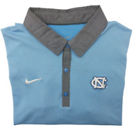 Nike Men's Medium Blue Gray North Carolina Tarheels Golf Polo NCAA Polyester