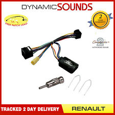 Car Stereo Steering Control Adaptor Antenna Fitting Kit For Renault Clio 2001-05
