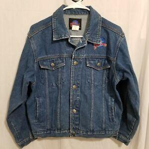 Vintage 1991 Planet Hollywood Washington DC Denim Jacket Size XL Youth