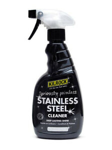 Kilrock Professional Streak Free Stainless Steel Cleaner Polisher Spray 500ml