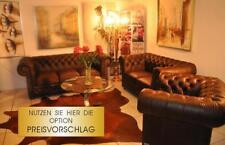 Chesterfield Essex 3+2+1 Aniline Vintage  Luxus Leder Garnitur UVP 8850 Euro