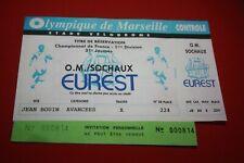 TICKET DOUBLE OM MARSEILLE / FC SOCHAUX SAISON 1992/93