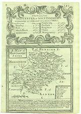 1720 Bowen Antique Map of Montgomeryshire