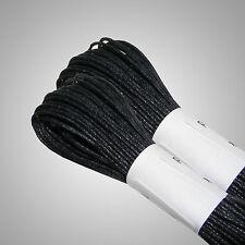 20 m cordon coton ciré-Twin Pack - 1mm shamballa cordon noir-free post