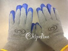 Latex Rubber Coated Palm Work Gloves 5 Pairs Of Latex Rubber Coated Palm Gloves
