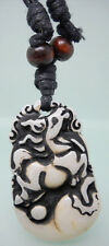 H1062 Horse new wooden bead adjustable string resin pendant necklace