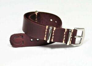 Leather watch strap burgundy mens Handmade minimalistic band 18mm 20mm 22mm 24mm