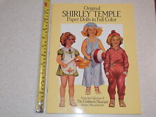 1988 Uncut Complete Paper Dolls In Full Color Shirley Temple Nice
