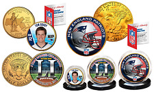 SUPER BOWL 51 CHAMPIONS NEW ENGLAND PATRIOTS 5X CHAMPION 24KT GOLD 3 COIN SET!