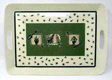 "Pfaltzgraff Naturewood Serving Tray Garden Bee Hive Pattern 18"" x 12.75"""