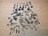 Job lot Antique clock parts including 27 pulley wheels ex Clockmakers Spares r29