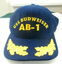 Vintage  USS Budweiser AB-1 Navy Blue Baseball Hat Excellent Condition