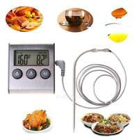 Digital Cooking Food Meat Probe Timer Thermometer Kitchen BBQ Oven Temperature
