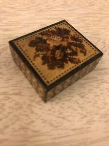 Antique Tunbridge Ware Stamp Box