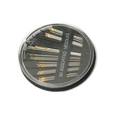 30pcs Assorted Sizes Hand Sewing Needles Embroidery Mending Craft Sew Case LW
