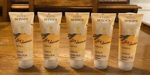 Lot Of 5 New & Sealed Avon Senses Silky Vanilla Hand Gel