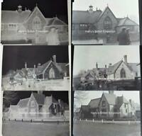 Broadwater School Worthing 1938 Set of 3 Glass Photograph Negatives