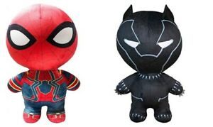 """Marvel Avengers Infinity War 30"""" Spiderman/Black Panther Inflatable Plush 2 Pack"""