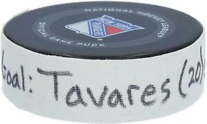 Game Used John Tavares Maple Leafs Unsigned Puck Item#10320238