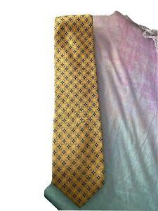 GHILARDINI men's silk neck tie Yello And Blue In Colour made in Italy