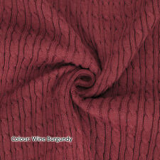 Neotrims Cable Twist Knit Fabric,Selvedge Edge 14 Colours,Knitted Sweater Style