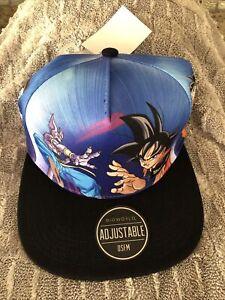Dragon Ball Z Anime Goku Sublimated Logo Mesh Back Snapback Hat Cap Adjustable