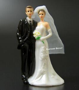 BRIDE AND GROOM WEDDING FIGURE PLASTIC CAKE TOPPER RECUERDO DE BODA G SCALE