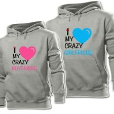 I Love My Crazy Boyfriend Girlfriend Print Sweatshirt Couple Hoodies Graphic Top