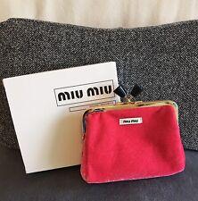 Miu Miu miumiu Parfums Red Coins Purse Pouch Makeup Cosmetic Bag Vip Gift Nib