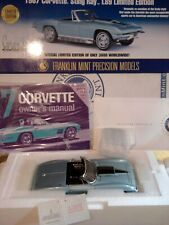 Franklin Mint 1967 Corvette Stingray L89.1:24.Rare Le.Nos.Docs.Undisplayed