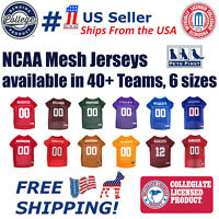 NCAA Football/Basketball Mesh Jersey for Pets. available in 40+ Teams & 6 Sizes