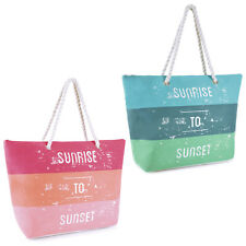 'Sunrise to Sunset' Design Shoulder / Beach / Shopping Bag with Rope Handle