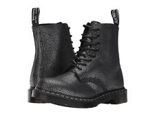 NEW Womens DR DOC MARTENS 1460 PASCAL PEBBLE METALLIC LEATHER BOOTS US 7/UK 5