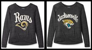 Junk Food Women's Long Sleeve NFL Tee, St. Louis Rams, Jacksonville Jaguars, Med