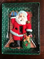Hand-Painted Santa Claus Single Toggle Switchplate Christmas Holiday Decoration