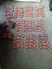100 Blue And Gold Shoulder Music Band Rocker Patches