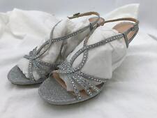 Nina Blake Women's Silver Baby Glitter/Bling Slingback Dress Heel Size 8M