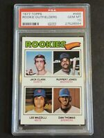 1977 Topps #488 Rookie Outfielders-PSA 10-Jack Clark/Lee Mazzilli/Ruppert Jones