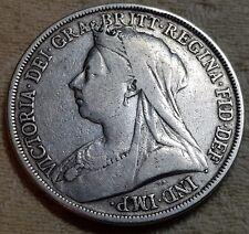 1893 Queen Victoria LVI Veiled Head Silver Crown Coin Lot 4