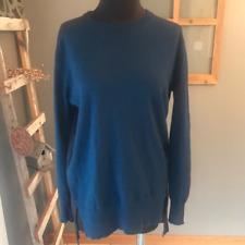 J. Crew Women's Navy Blue Color Block Hi Lo Wool Blend Tunic Sweater XS Euc