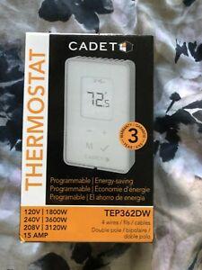 Cadet 3600-Watt Programmable Electronic Thermostat TEP362DW #2046