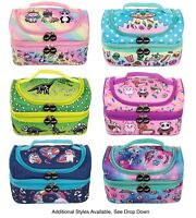 Two-Compartment Kids Lunch Bag Thermal Insulated Cooler Bag School Nursery
