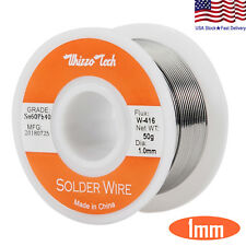 "60-40 Tin Lead Rosin Core Solder Wire Soldering Sn60 Pb40 Flux .039""/1.0mm 50g"
