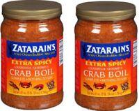 2 Jars - Zatarains Extra Spicy Blend Crawfish Shrimp Crab Boil Seasonings 63 Oz
