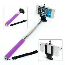 Purple Extendable Selfie Stick Adjustable Holder for HTC U11 10 U Play Desire